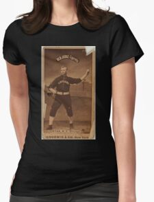 Benjamin K Edwards Collection J Ryan Chicago White Stockings baseball card portrait 003 Womens Fitted T-Shirt