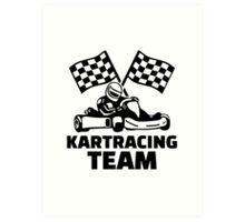 Kart racing team Art Print
