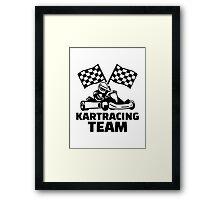 Kart racing team Framed Print