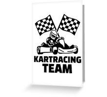 Kart racing team Greeting Card