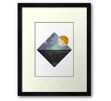 Sea and sun geometric Framed Print
