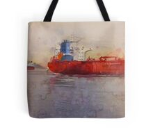 Freighters, watercolor on paper Tote Bag