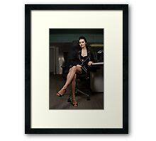 I wish this was my secretary! Framed Print