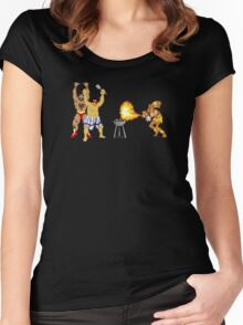Street Fighter BBQ Women's Fitted Scoop T-Shirt