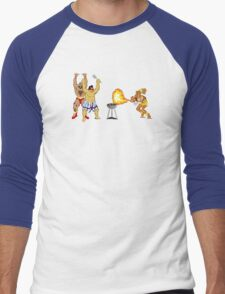 Street Fighter BBQ Men's Baseball ¾ T-Shirt