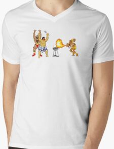 Street Fighter BBQ Mens V-Neck T-Shirt