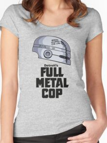 Full Metal Cop Women's Fitted Scoop T-Shirt