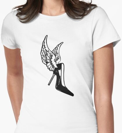 ShoeFly (Winged Victory on Heels) Womens Fitted T-Shirt