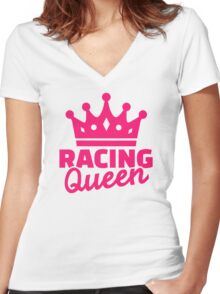 Racing queen Women's Fitted V-Neck T-Shirt