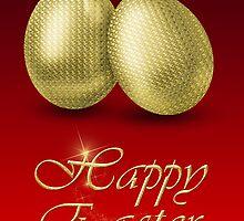 Golden Easter Eggs by sorayashan