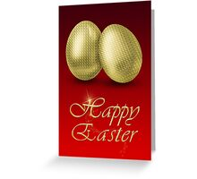 Golden Easter Eggs Greeting Card