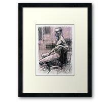 Portrait of Damon Framed Print
