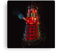 Dalek Fractal Flame, digital painting Canvas Print