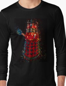 Dalek Fractal Flame, digital painting Long Sleeve T-Shirt