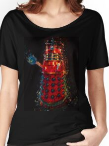 Dalek Fractal Flame, digital painting Women's Relaxed Fit T-Shirt
