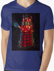 Dalek Fractal Flame, digital painting Mens V-Neck T-Shirt