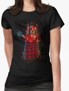 Dalek Fractal Flame, digital painting Womens Fitted T-Shirt