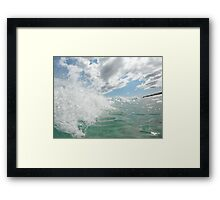 Rolling with the sea Framed Print