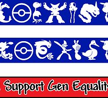 Sticker Pack! COEXIST - Gen Equality by merimeaux