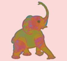 Baby Elephant Green Patch Baby Tee