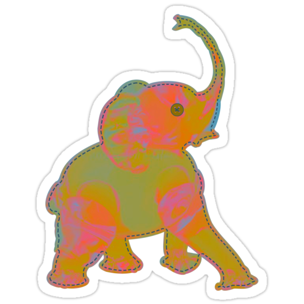 Baby Elephant Green Patch by meredithjean