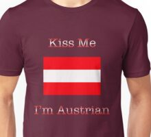 Kiss Me I'm Austrian Unisex T-Shirt