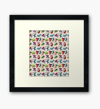 Dragons, Dragons and more Dragons Framed Print