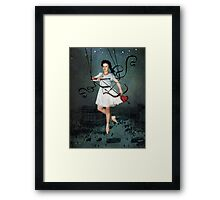 Hit by your love Framed Print