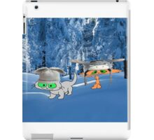 Cat Friends Enjoy The Winter Snow iPad Case/Skin