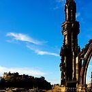 Scott Monument View by Tom Gomez