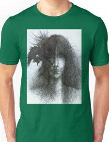 Bird In Hair Unisex T-Shirt