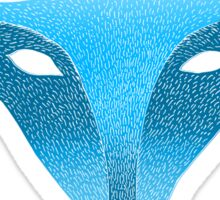 Blue fox mask with moon Sticker
