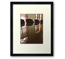Office Reflection Framed Print