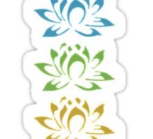 seven lotus flowers Sticker