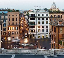 Via Condotti Waking Up - Impressions Of Rome by Georgia Mizuleva