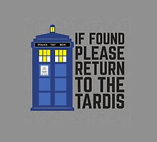 If found please return to the tardis by Warco