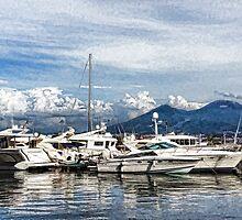 Vesuvius and Naples Harbor - Mediterranean Impressions by Georgia Mizuleva