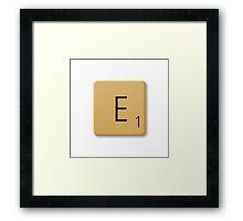 Scrabble Tile - E Framed Print