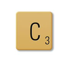 Scrabble Tile - C by axemangraphics