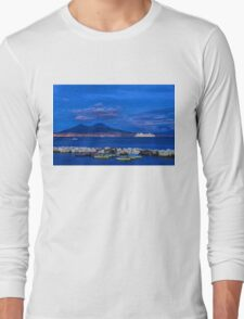 Blue Night in Naples - Mediterranean Impressions Long Sleeve T-Shirt