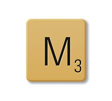 Scrabble Tile - M by axemangraphics