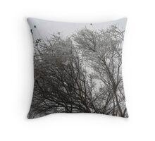 Snow-tipped Throw Pillow