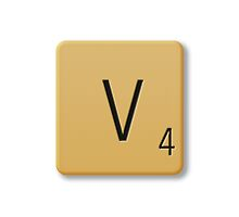 Scrabble Tile - V by axemangraphics