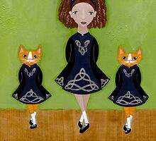 The Irish Step Dancers by Ryan Conners