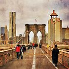Vintage Brooklyn bridge by Ashok Mani