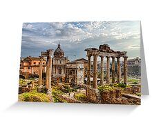 Ancient Roman Forum Ruins - Impressions Of Rome Greeting Card