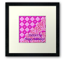 Hot Pink Butterfly Sweet 16 Framed Print