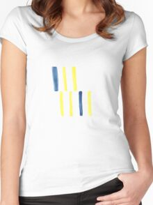 Strip Stripe Strap Women's Fitted Scoop T-Shirt