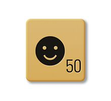 Scrabble Tile - Happy #2 by axemangraphics