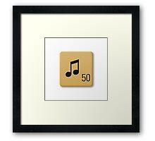 Scrabble Tile - Music Framed Print